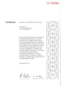 Access Certified Partner_Siedle