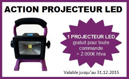 projecteur led action
