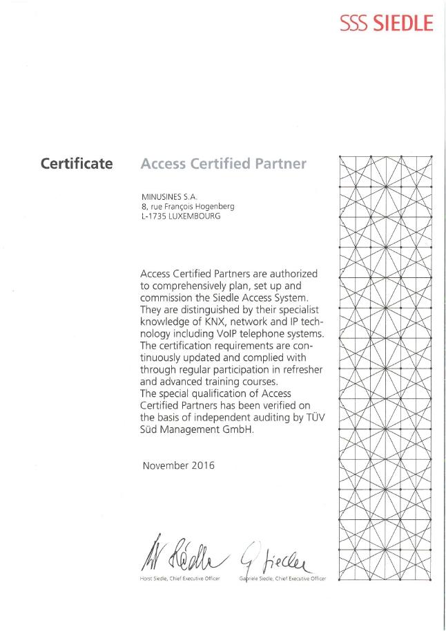 Certificate_Access Certified Partner